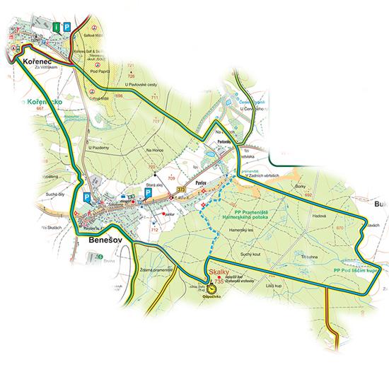 okruh Benešovský<br>(14,5 km)