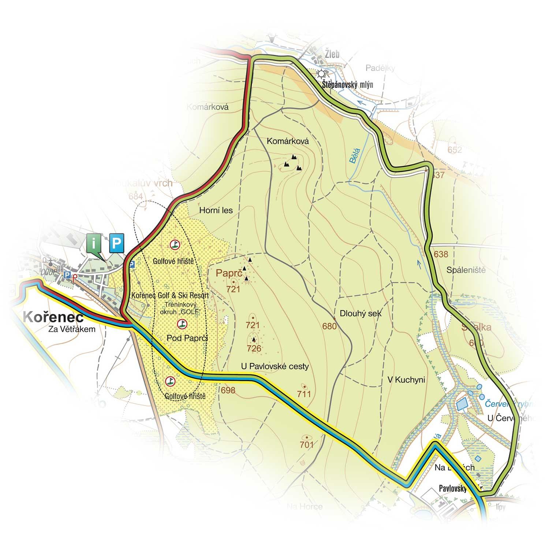 okruh Kořenecký-golfový<br>(8,5 km)