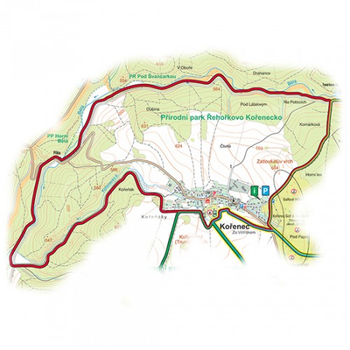 okruh Kořenecký-Melkovský (11,6 km)