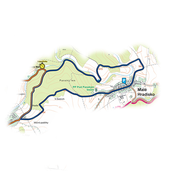 okruh Malé Hradisko<br>(9,2 km)