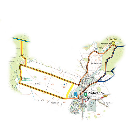 okruh Protivanovský<br>(9,5 km)